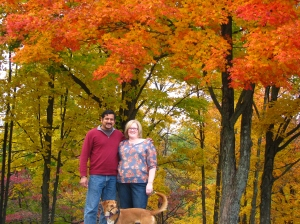 We took a Fall color drive last Saturday.  I wished I'd worn better shoes for walking.